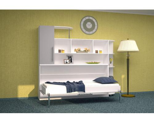 Шкаф-кровать детская горизонтальная в серых тонах